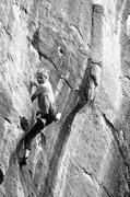 Rock Climbing Photo: JJ cranking out at The Peaks Crag, AZ