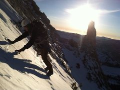 Rock Climbing Photo: Descending the Muir Route in January 2015