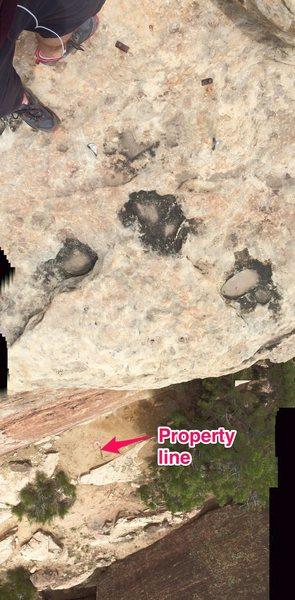 Rock Climbing Photo: Property line.