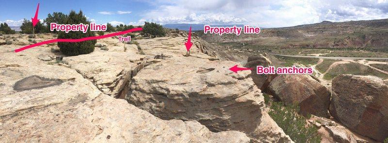 Property line.