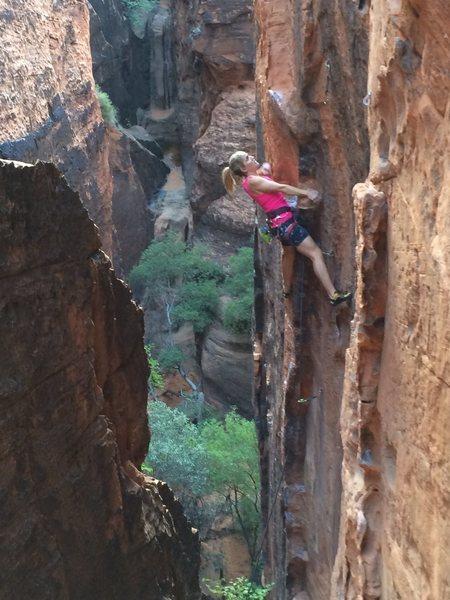 snow canyon climbing