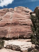 Rock Climbing Photo: Property stake right in front of this route.
