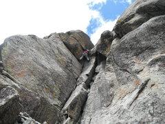 Rock Climbing Photo: Bernie on this fun route.