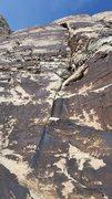 Rock Climbing Photo: The upper wall