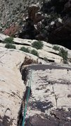 Rock Climbing Photo: Chelsea following pitch 5 on an ascent on 5-17-201...