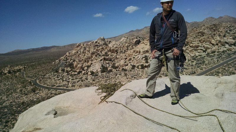 Rock Climbing Photo: Top of Intersection Rock, Joshua Tree NP