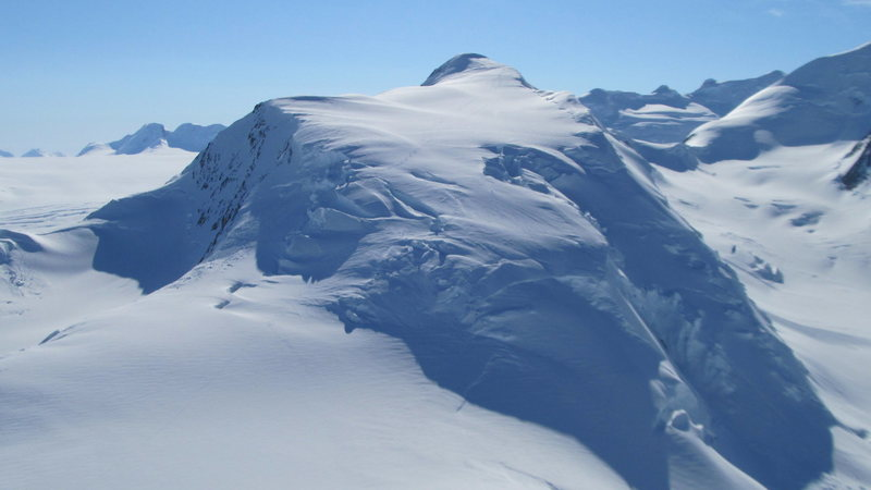 Rock Climbing Photo: Mt. Fafnir with ski tracks.