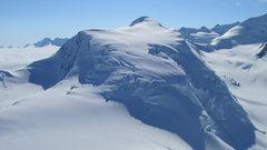 Rock Climbing Photo: Mt. Fafnir with ski tracks.