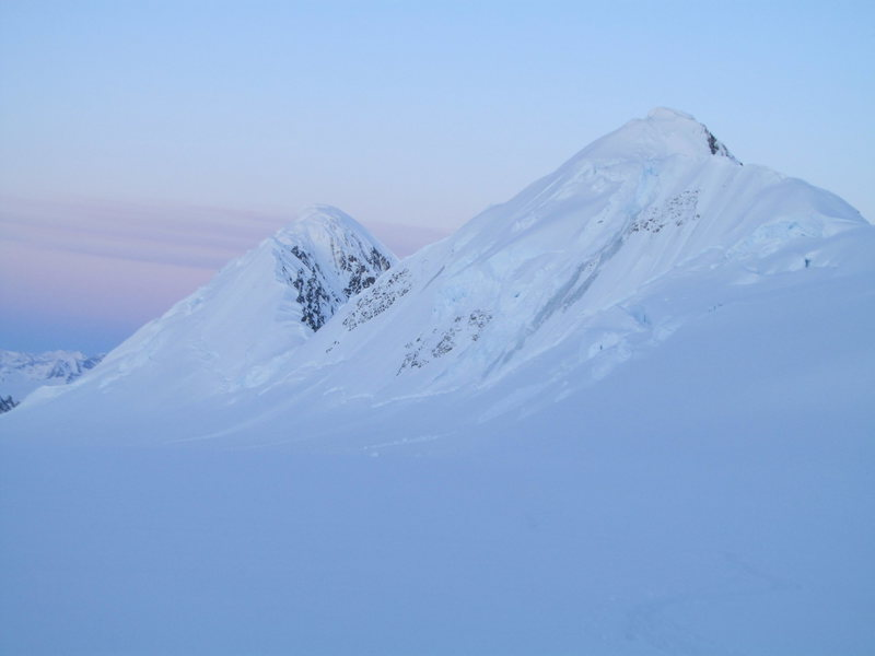 L to R. Powder Top and Flat Top from the Science Glacier.