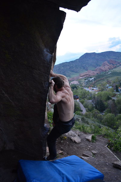 Rock Climbing Photo: About to move off the right hand gaston.