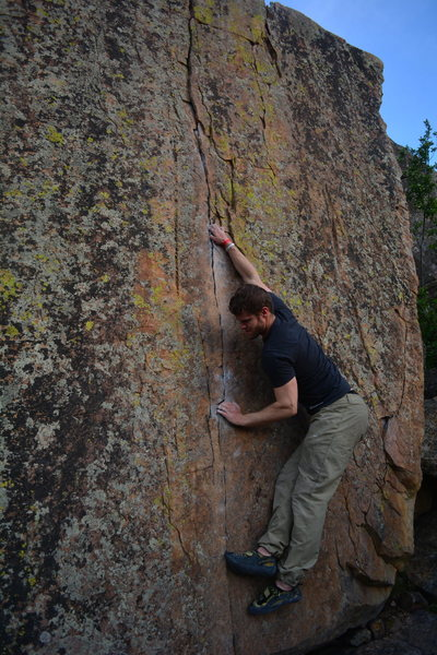 Rock Climbing Photo: The start move.
