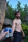 Rock Climbing Photo: After both Ryan and I sent Breashear's Crack II.