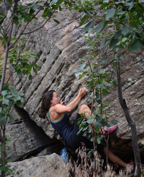 Rock Climbing Photo: Transitioning onto the arete.