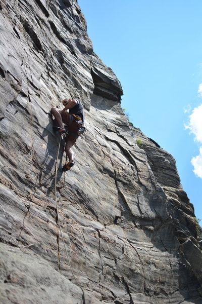 Rock Climbing Photo: Brendan Nash halfway up the climb.