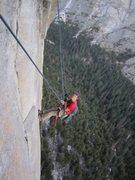 Rock Climbing Photo: Pendulum after The Kor Roof.