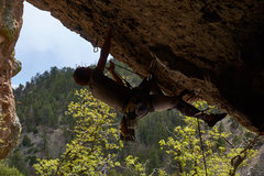 Mike clipping on Poque's Arete.