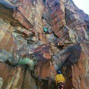 Rock Climbing Photo: Wide stem on overhung start