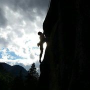 Rock Climbing Photo: At Muscle Beach in Leavenworth on Annie's Climax