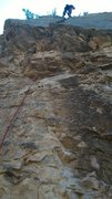 Rock Climbing Photo: Nate Burns coming off belay at the top of Knuckle ...