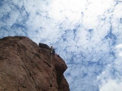 Rock Climbing Photo: Topping out on p4