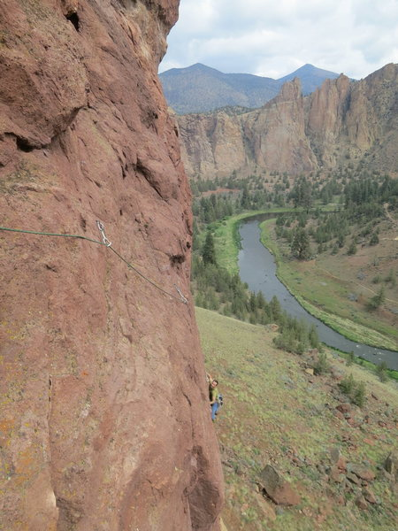 Rock Climbing Photo: Coming up p2.