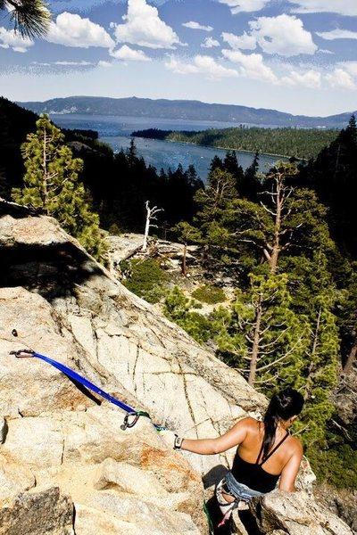 90 ft. Wall - Eagle Lake, Tahoe<br>