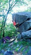 Rock Climbing Photo: Hitting the Crux