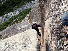 Rock Climbing Photo: Lovers Leap - Tahoe East Wall - East Crack