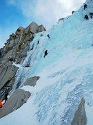 Rock Climbing Photo: Lee Vining Canyon Main Line WI3