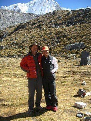 Peruvian Andes - Cordillera Blanca<br> Nevado Pisco Base Camp