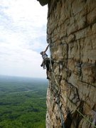Rock Climbing Photo: 2nd pitch of Bonnies Roof! Gorgeous climb.