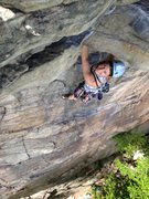 Rock Climbing Photo: Before pulling the roof on Classic, The Gunks. I w...