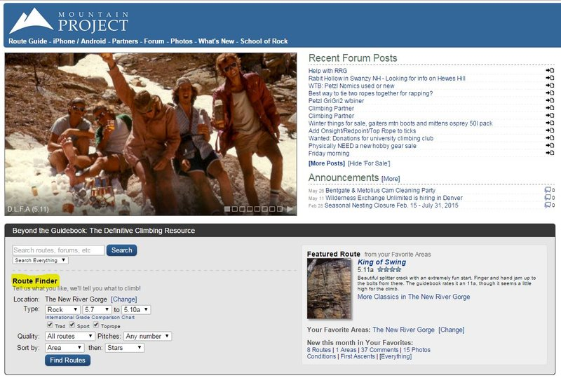 Rock Climbing Photo: mp home page