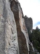 Rock Climbing Photo: A slab, an arete.