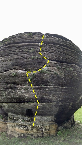 Rock Climbing Photo: Front view of problem
