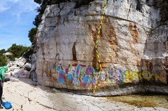 Rock Climbing Photo: Despite the grafiti, this setting is gorgeous and ...