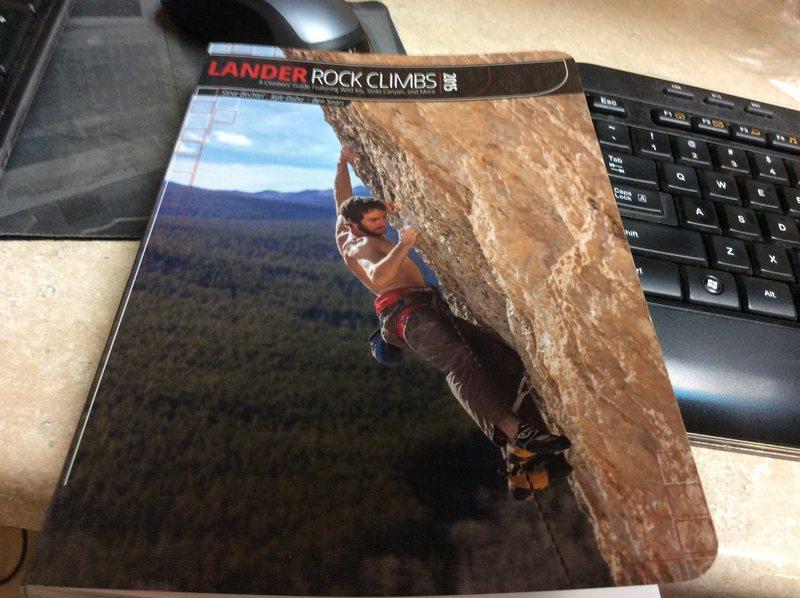Rock Climbing Photo: New guidebook to Lander.