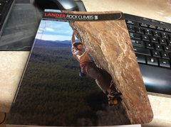 Rock Climbing Photo: New guidebook to Lander.