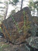Rock Climbing Photo: 1. Mancala V4/5 2. TigerLily Arete V4 3. Tigerlily...
