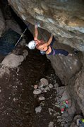 Rock Climbing Photo: Punching it through the first bulge and crux. May ...