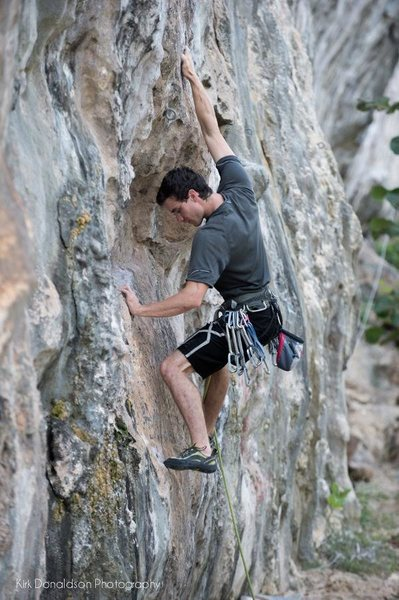 Fun limestone sport climbing in the Cayman Islands.