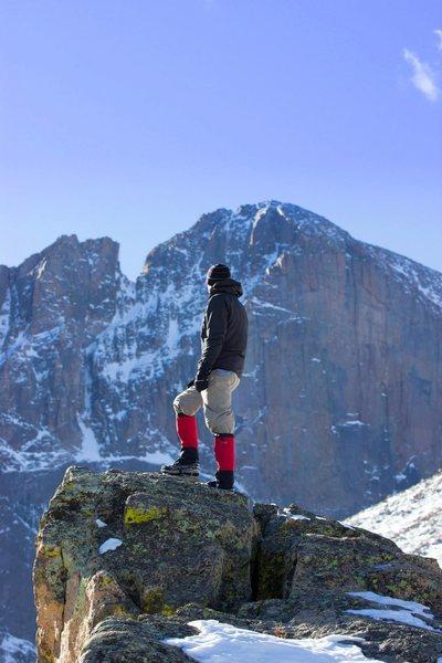 Rock Climbing Photo: Wishing I was climbing the Diamond but knowing how...