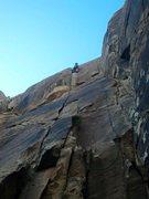 Rock Climbing Photo: Climber on Weak Sauce