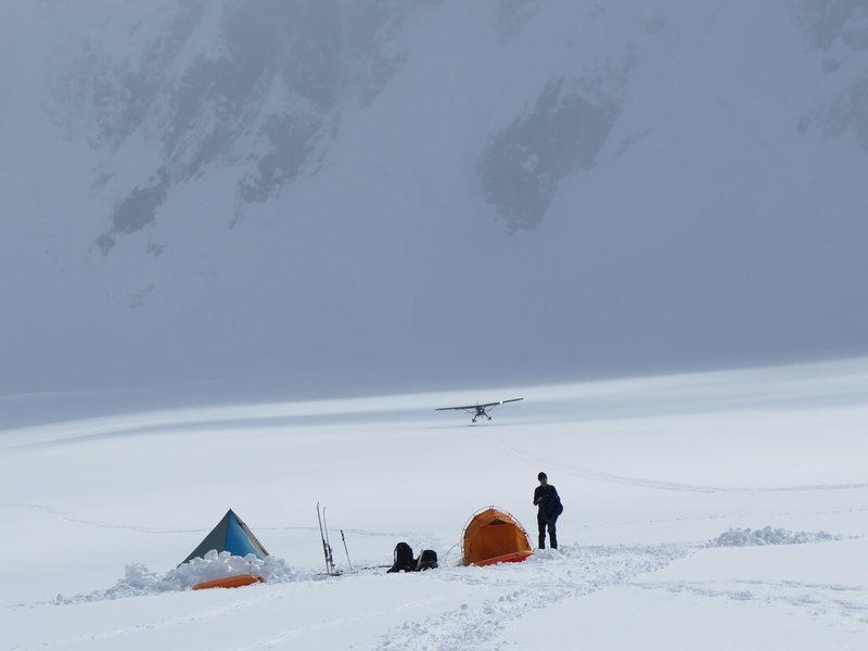 Glacier Camp at Circa 7000 Feet