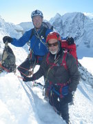 Rock Climbing Photo: Bob and Mike Some Place on the way down