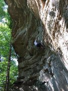 Rock Climbing Photo: Onsighting Air Ride Equipped 11a at the Red River ...