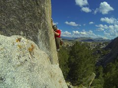 Rock Climbing Photo: Redtail, 5.11a. The best clip up on granite I have...