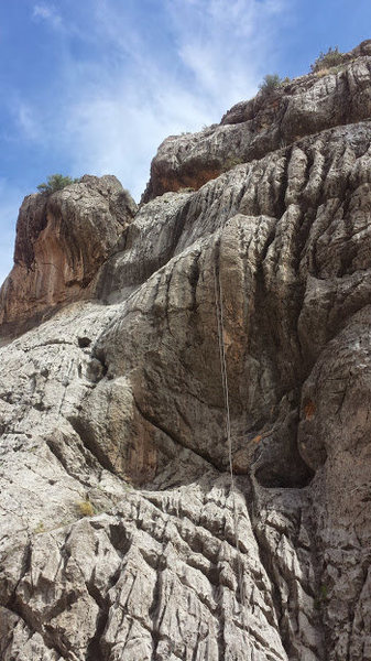 Rock Climbing Photo: K1 - rope hanging on route