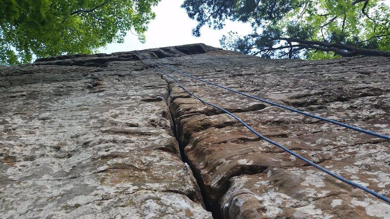 Rock Climbing Photo: Looking up at Boston Rag.