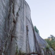 A shot of me on Split beaver- 5.10b off width in squamish